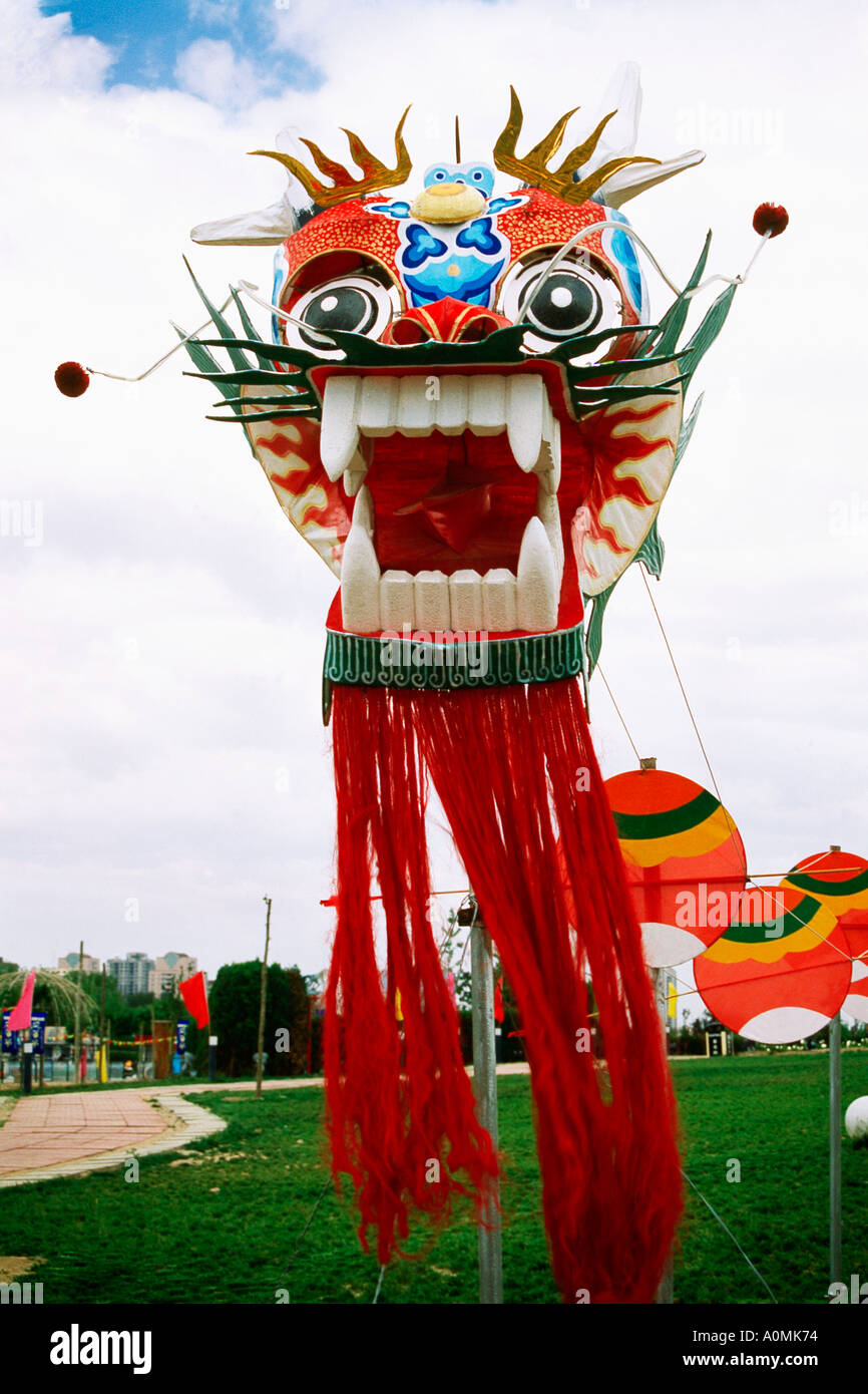 SDM 92231 Chinese Dragon kite in Forbidden City in Beijing China Asia - Stock Image