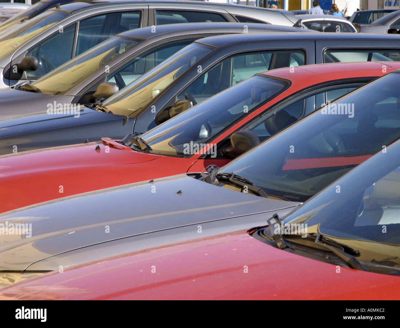 Parked cars - Stock Image