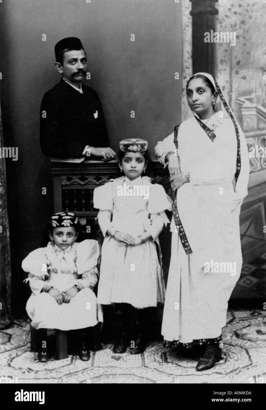 Indian Family Black And White Stock Photos Images Alamy