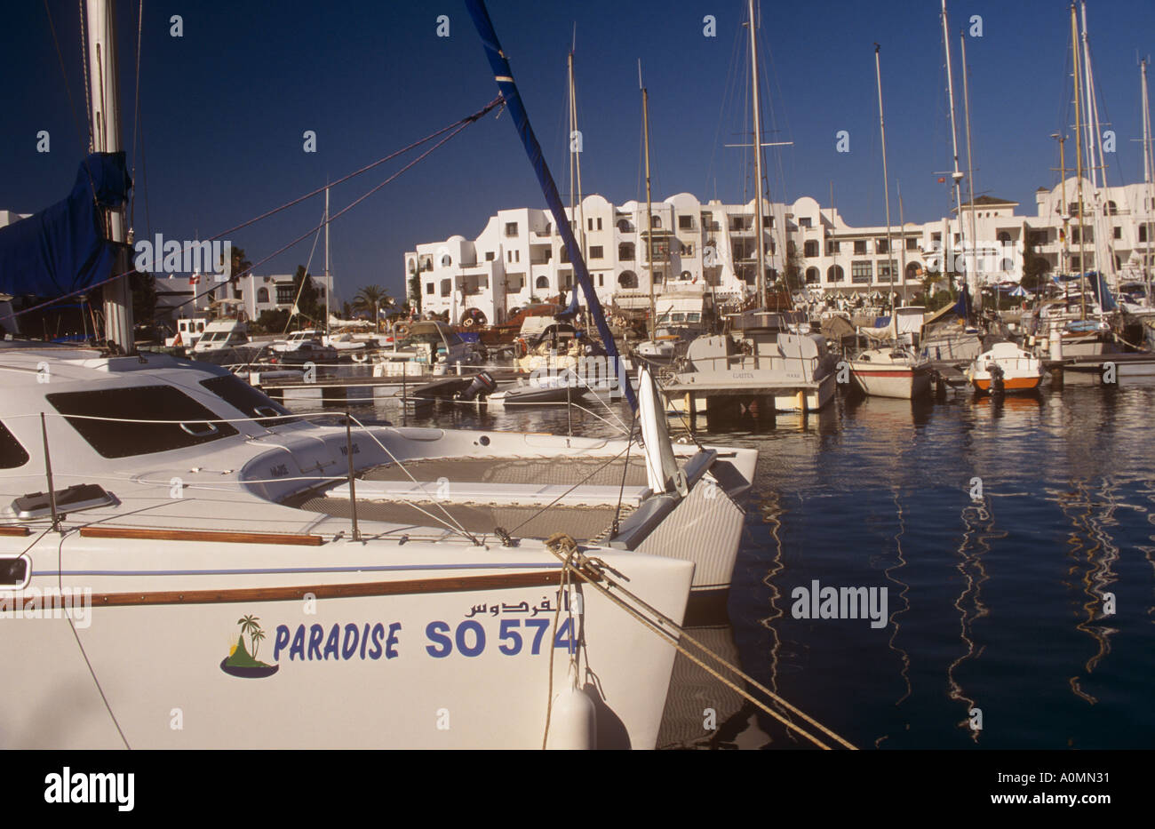 Port el Kantaoui Marina Sousse Tunisia Stock Photo