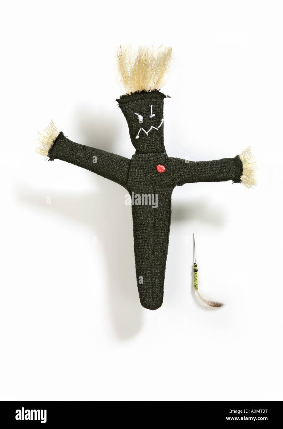 voodoo doll Voodoopuppe - Stock Image