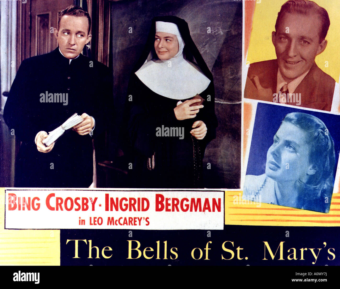 BELLS OF ST MARY'S 1945 RKO film with Bing Crosby and Ingrid Bergman - Stock Image