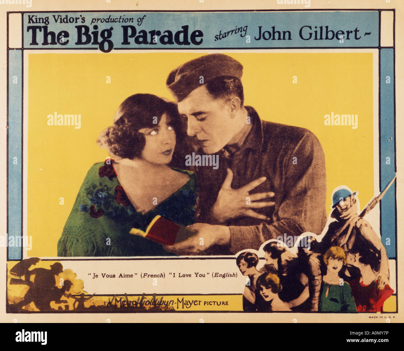 THE BIG PARADE 1925 MGM silent film with John Gilbert and Renee Adoree - Stock Image