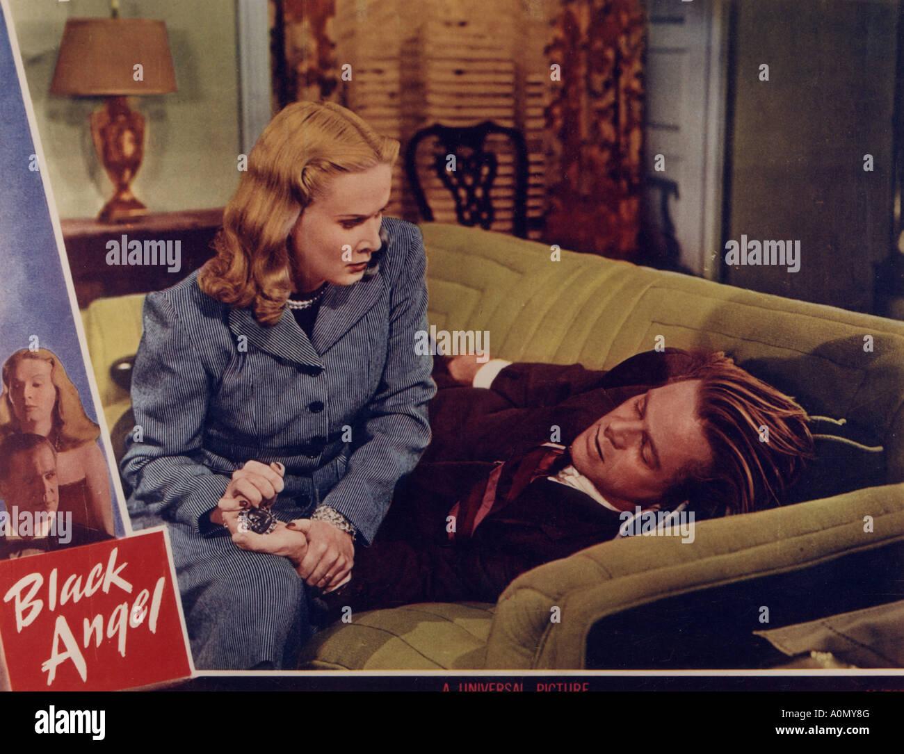 BLACK ANGEL 1946 U-I film with Dan Duryea and June Vincent - Stock Image