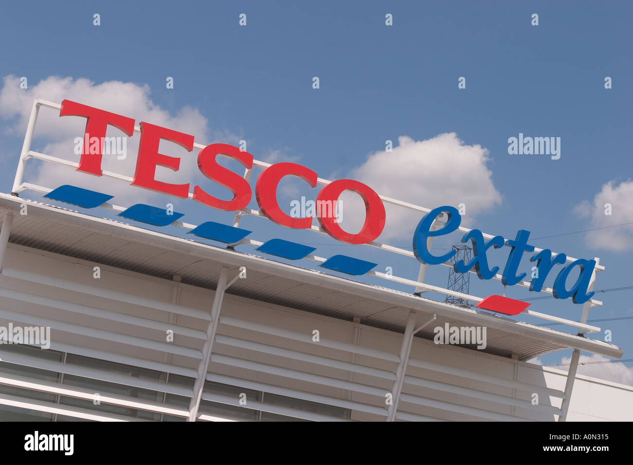 Tesco Extra at Gallions Reach Shopping Park Newham East London - Stock Image