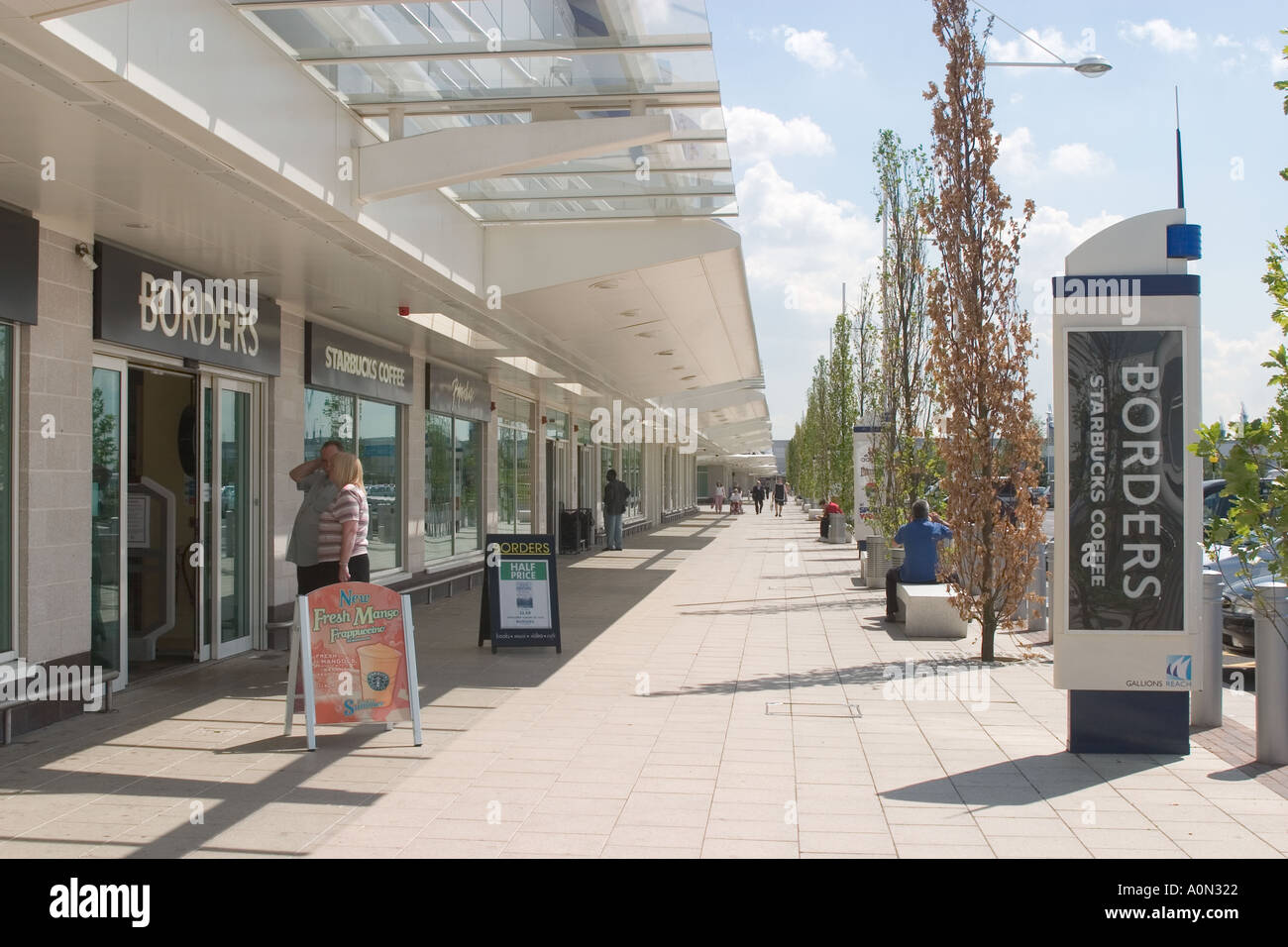Gallions Reach Shopping Park Beckton Newham Stock Photo