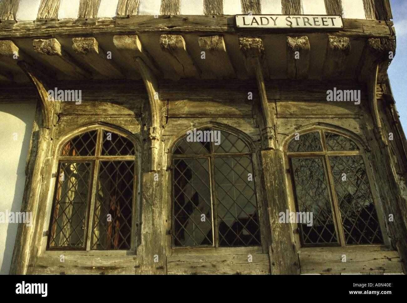 Lady Street Lavenham village Suffolk England - Stock Image