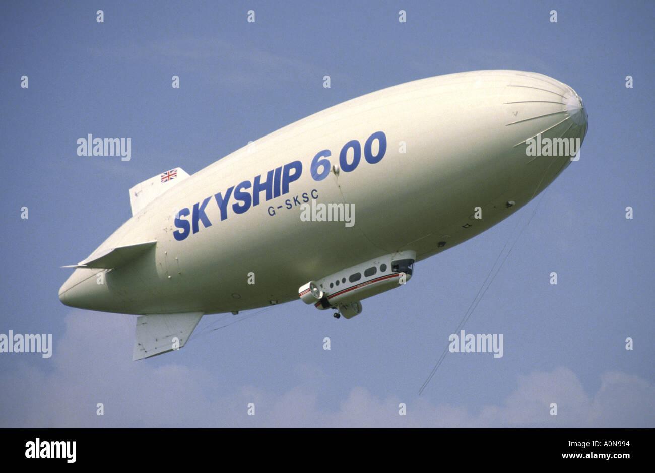 Skyship 600 Airship Farnborough Airshow Stock Photo