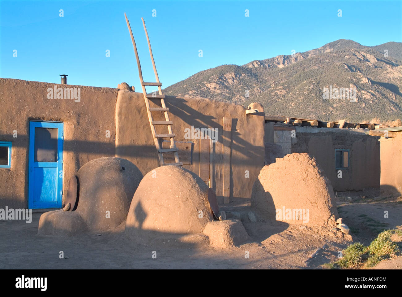 Native American Indian Homes And Residences In Taos Pueblo New