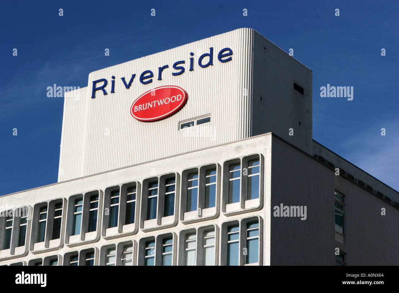 Office block by the River Irwell Manchester UK - Stock Image