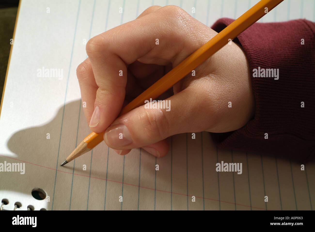 Starting a Letter - Stock Image