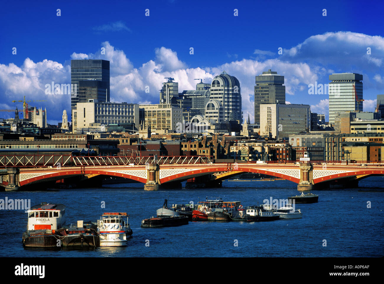 THE CITY OF LONDON AND THAMES RIVER Stock Photo