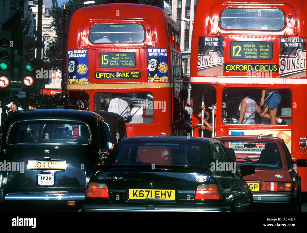 TRAFFIC IN LONDON - Stock Image