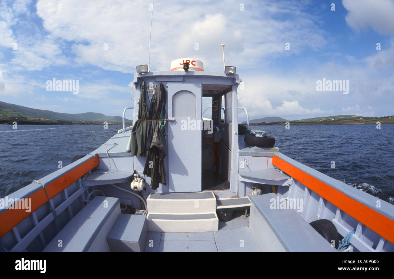 Boat Tour in West Ireland - Stock Image