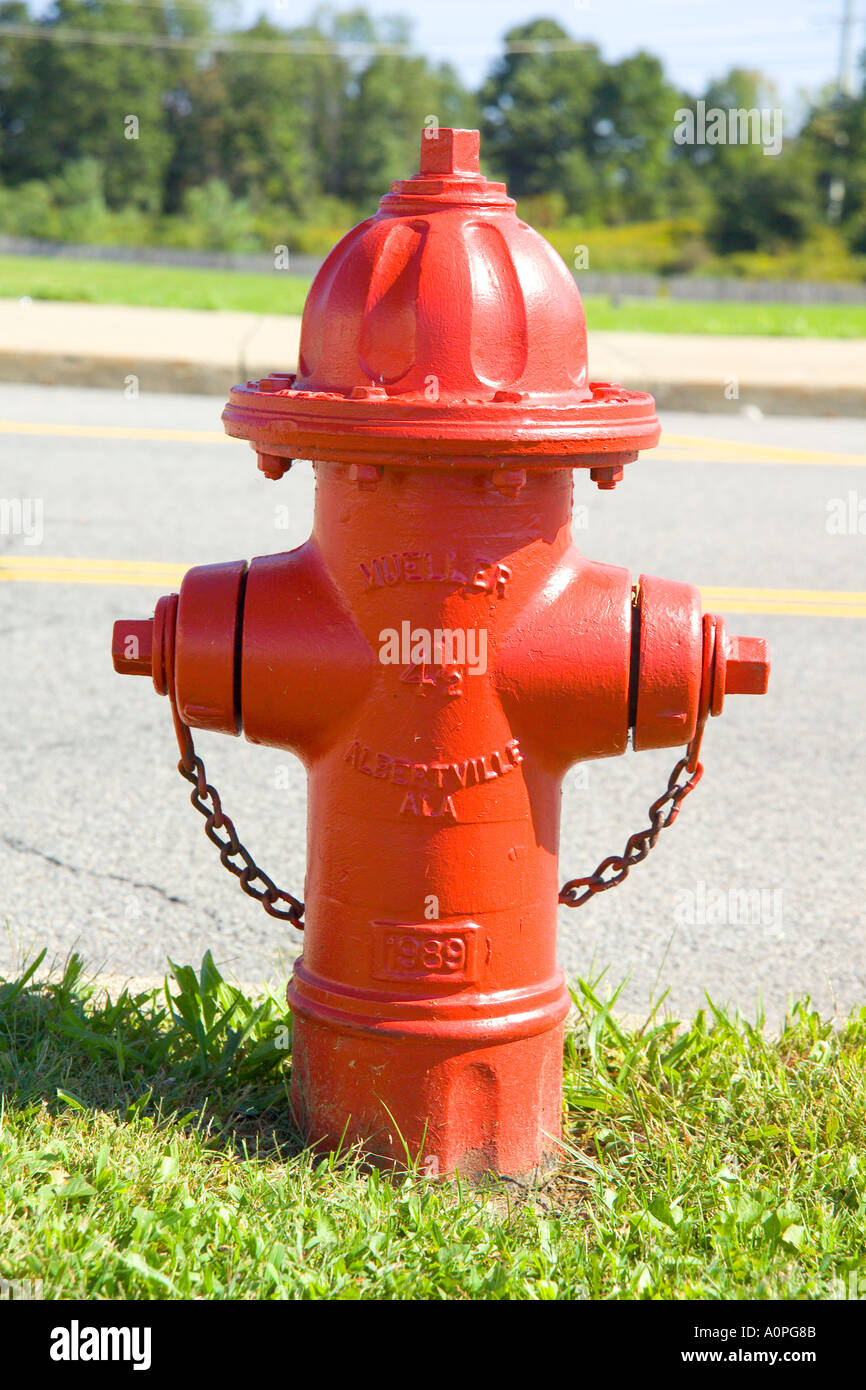 Red Hydrant - Stock Image