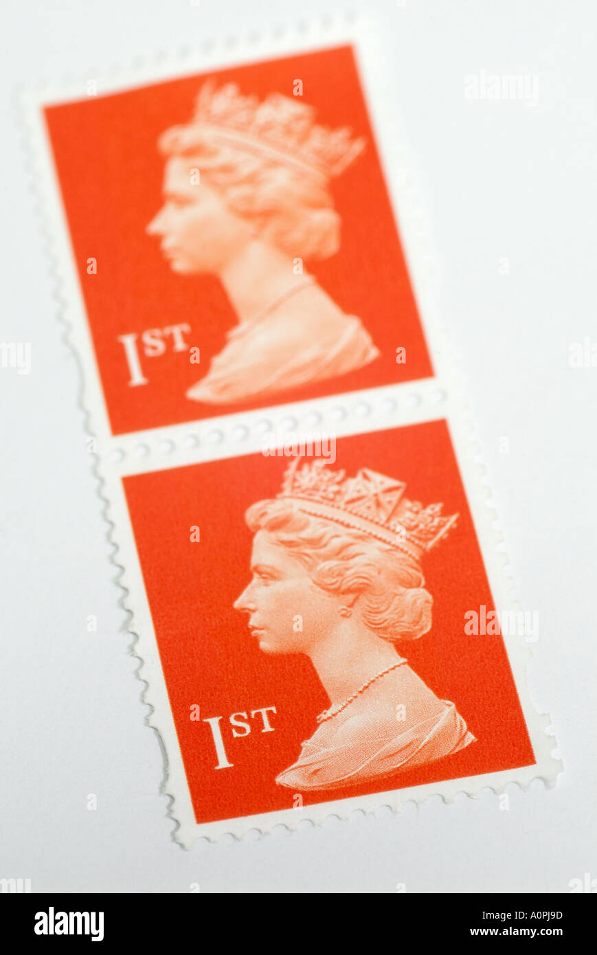 United Kingdom First Class Postage Stamps - Stock Image