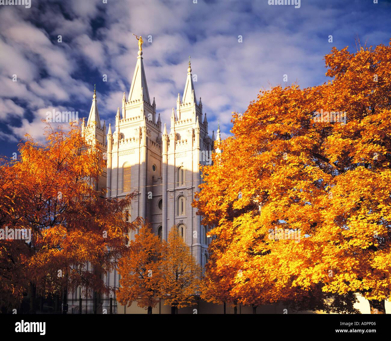 Downtown Salt Lake City Living: Salt Lake City LDS Temple Salt Lake City Utah Stock Photo