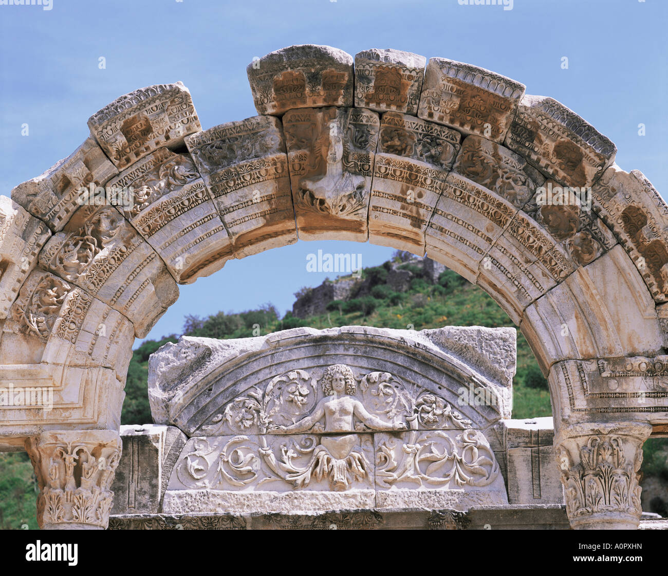 Temple of Hadrian Ephesus Anatolia Turkey Asia Minor Eurasia - Stock Image