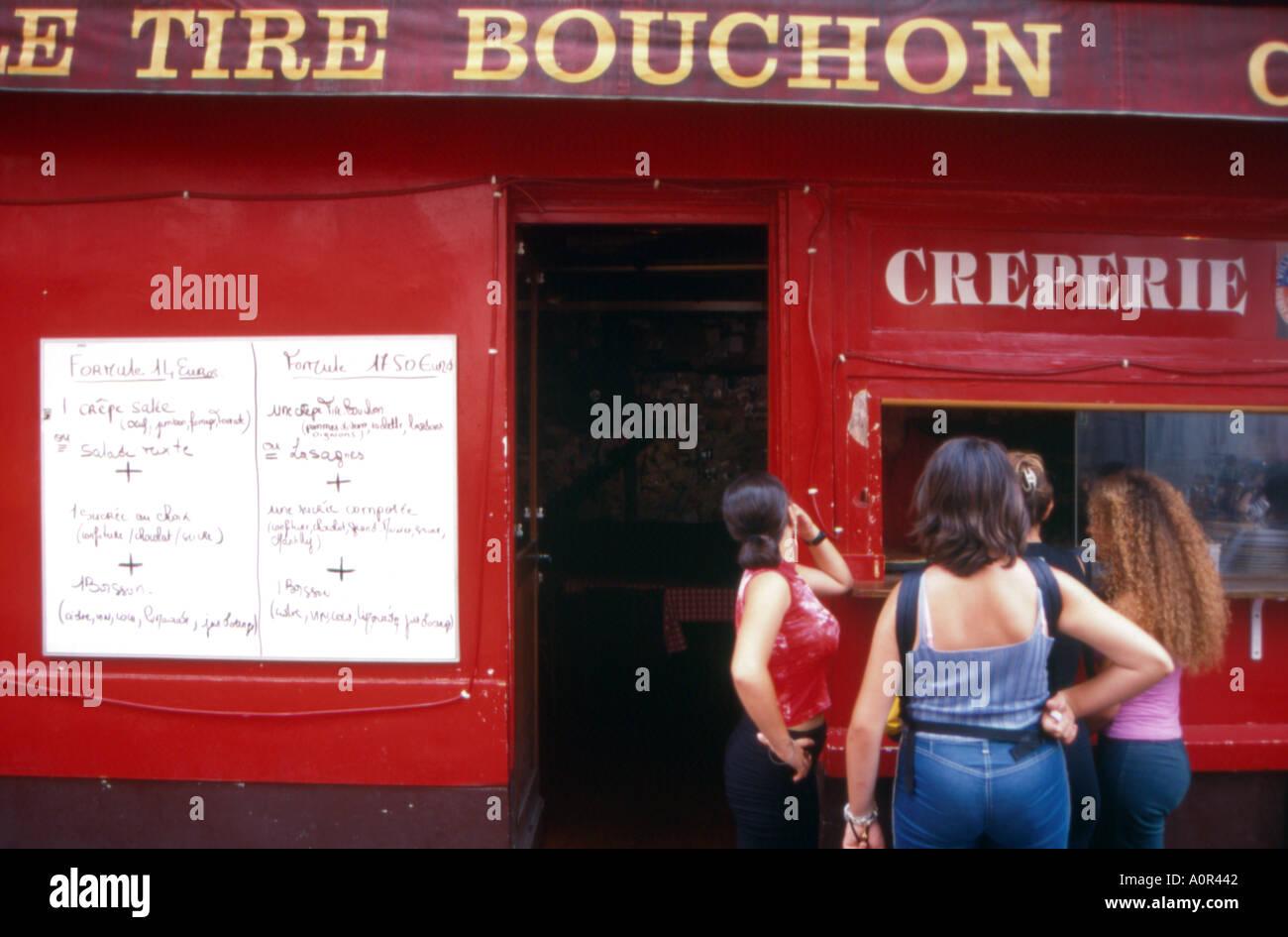 particular restaurant paris france - Stock Image