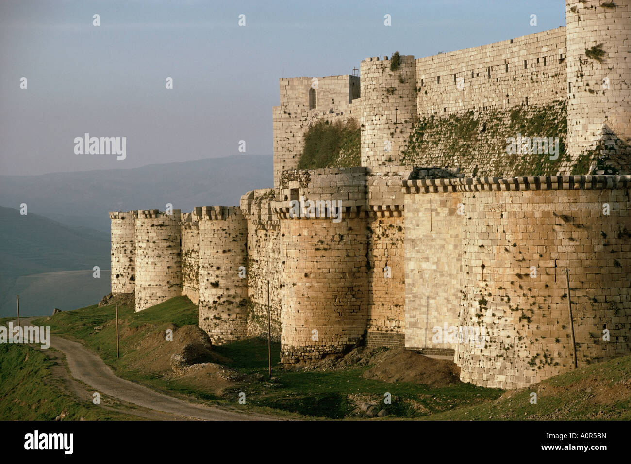 The Krak des Chevaliers Crusader castle Syria Middle East - Stock Image