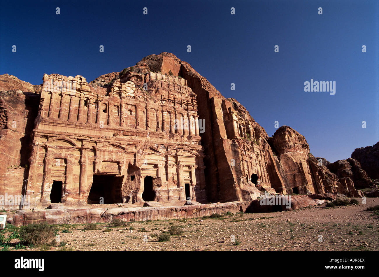 Palace Tomb in the chain of royal tombs Petra UNESCO World Heritage Site Jordan Middle East Stock Photo