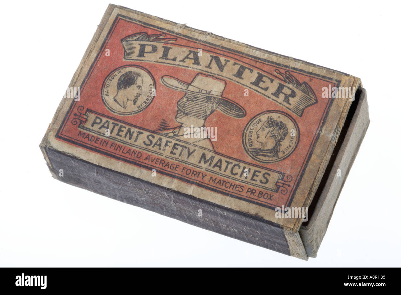 old box of Matches Planter safety match box Made in Finland - Stock Image