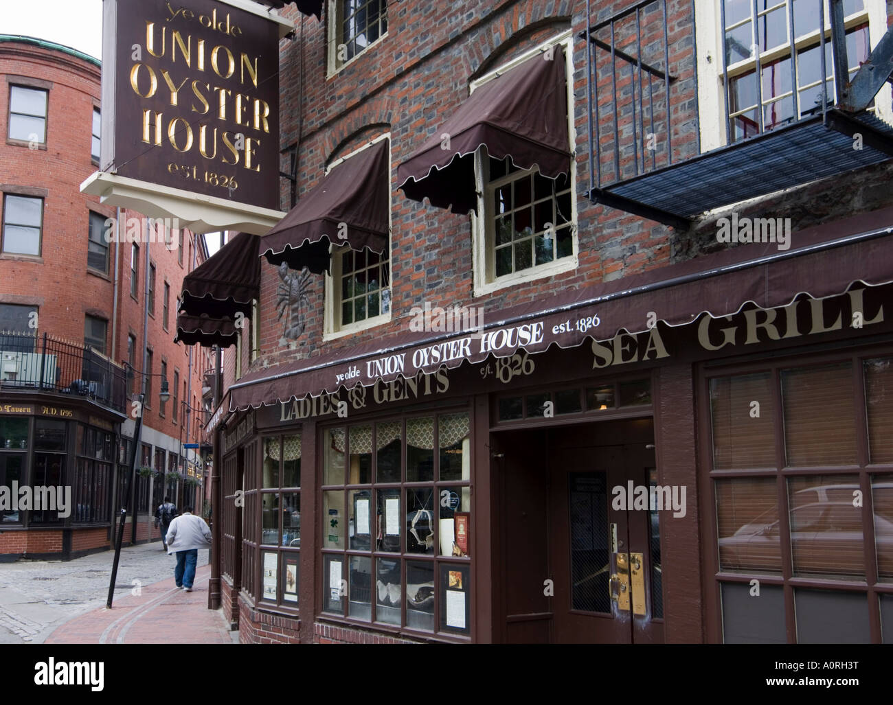 The Union Oyster House Blackstone Block Built In 1714 One Of Boston S  Oldest Surviving Streets Boston Massachusetts New England