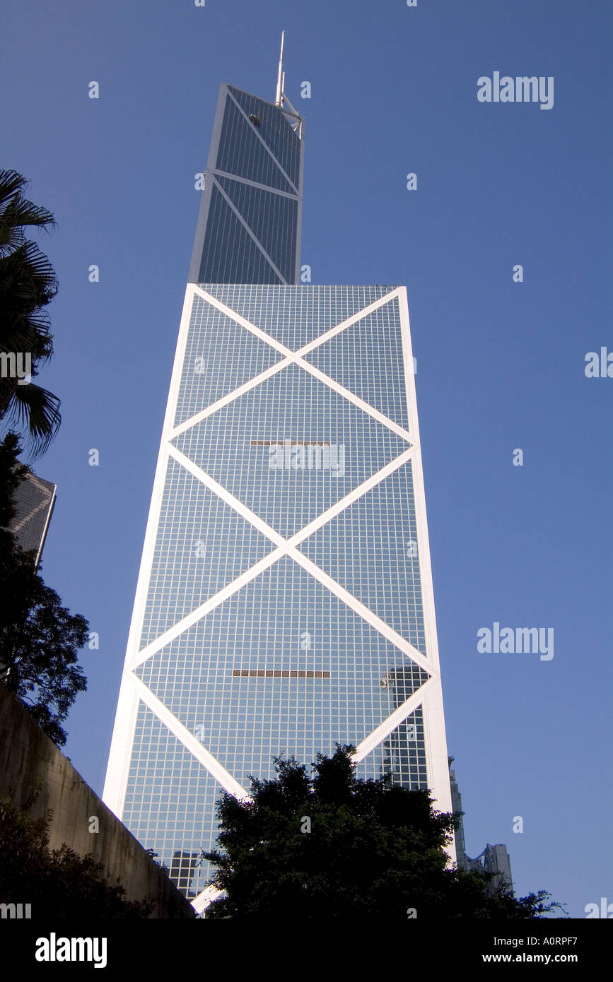 dh Bank of China CENTRAL HONG KONG glass tower skyscraper building corporate new architecture buildings asia - Stock Image