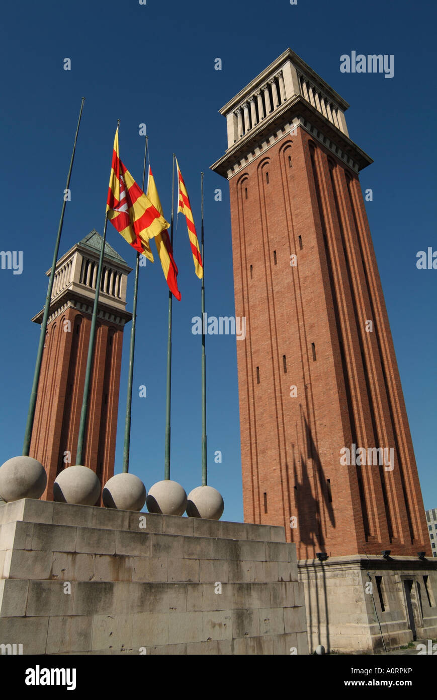 Placa Espanol Barcelona Catalonia Spain Europe - Stock Image