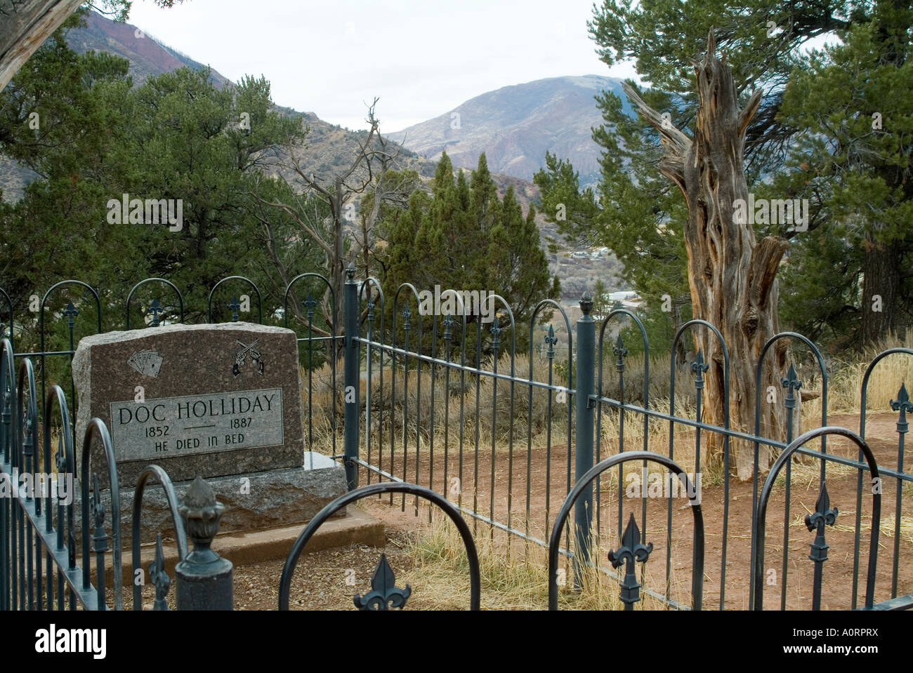Doc Holliday s Grave Glenwood Springs Colorado United States of America North America - Stock Image