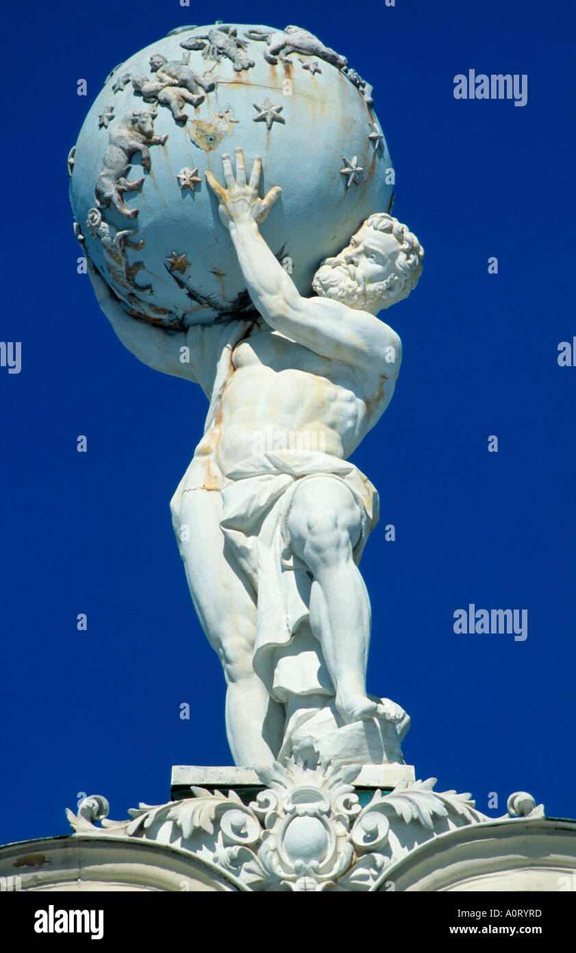 Atlas Statue / Linderhof - Stock Image