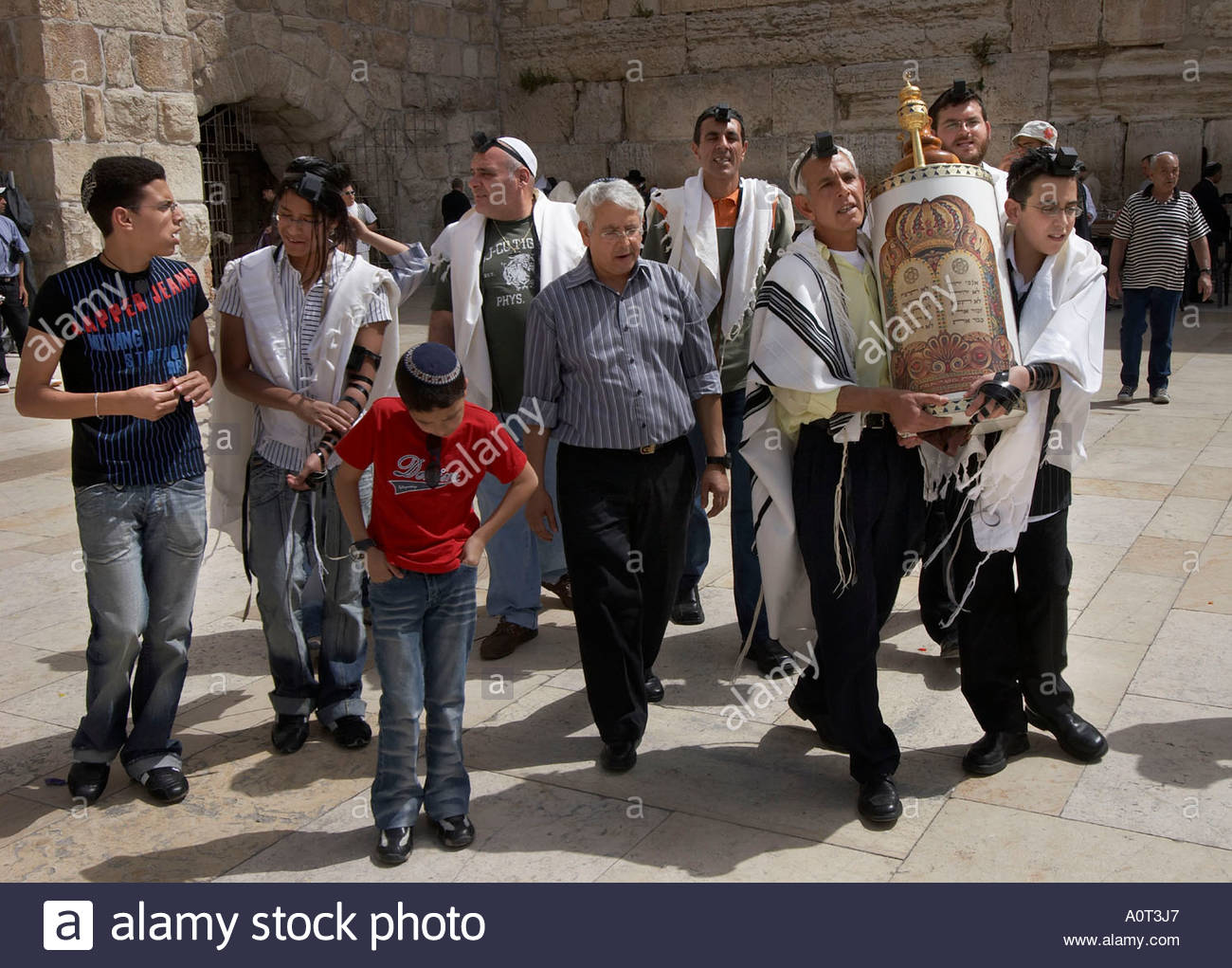 Bar Mitzva Celebration / Jerusalem - Stock Image