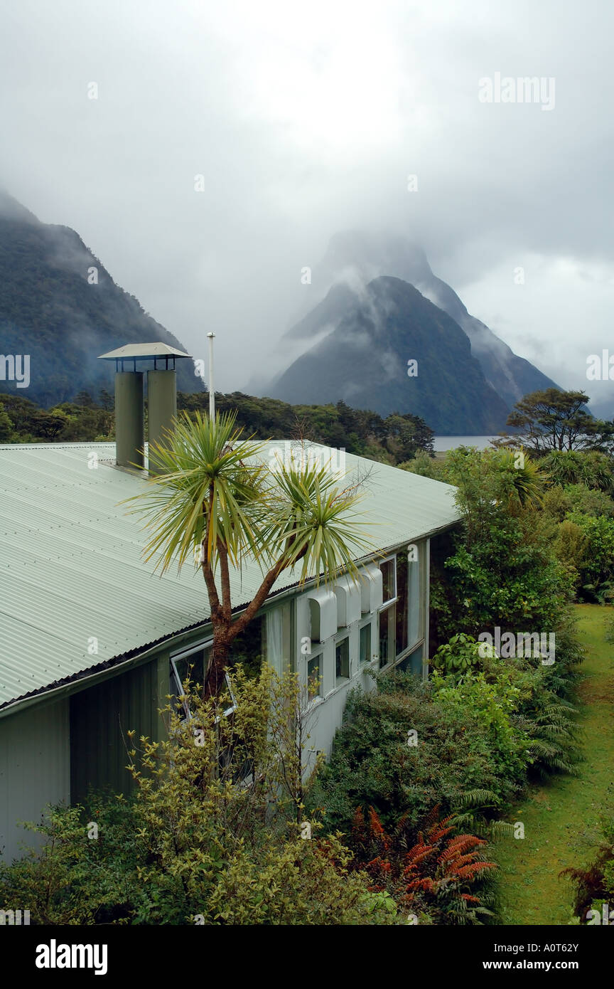 View Of Mitre Peak From Milford Lodge Milford Sound