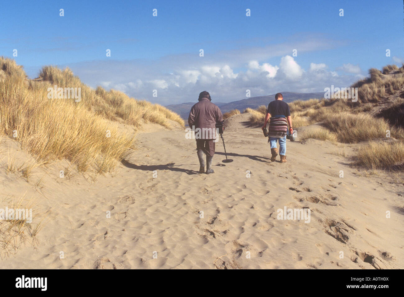 Jew Detector: Men With Metal Detectors Ynyslas Nature Reserve Near Borth