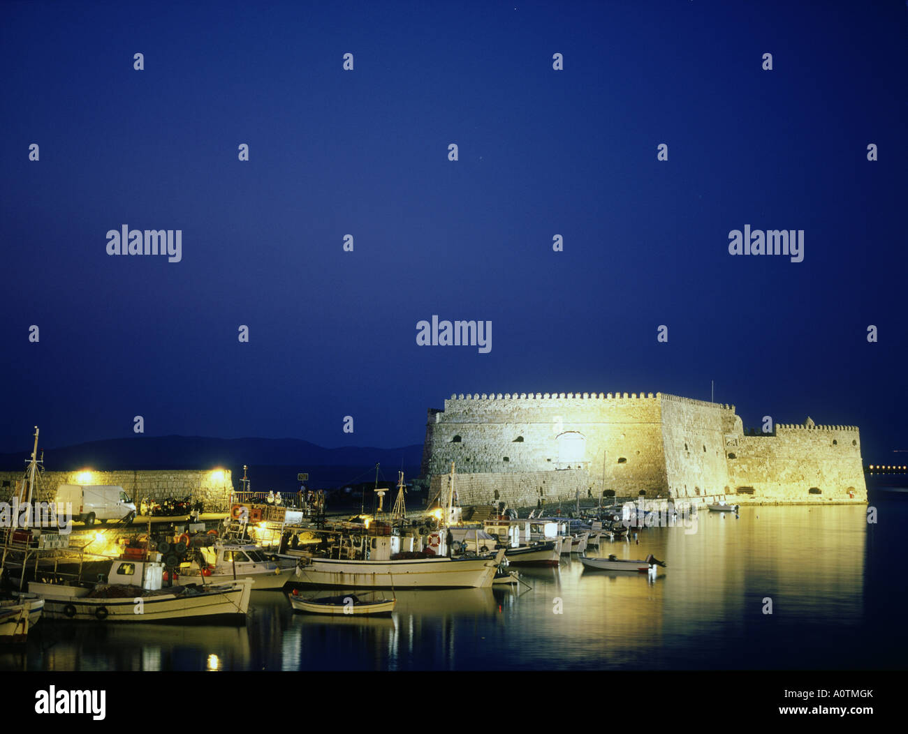 Fort from Venetian period Old Port - Stock Image