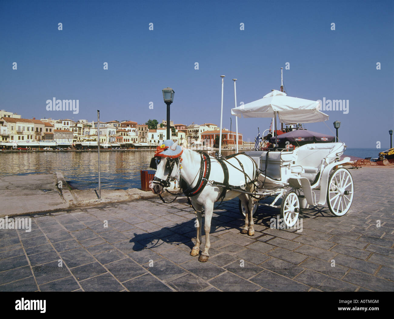 Sightseeing carriage at Venetian Port - Stock Image
