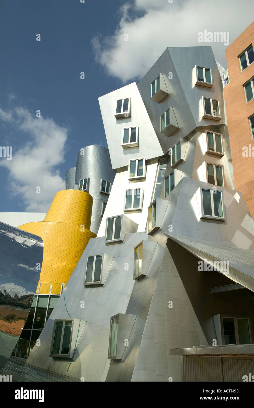 Stata Center for Computer Information and Intelligence Sciences at MIT designed by architect Frank O Gehry Stock Photo