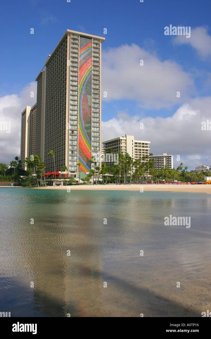Hilton Hawaiian Village Resort and Hotel Waikiki Honolulu Oahu Hawaii - Stock Image