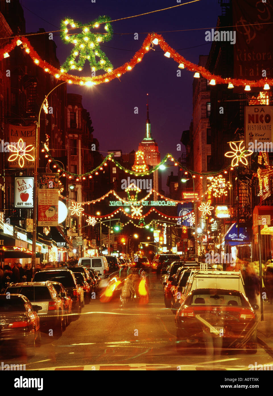 Little Christmas Italy.Christmas At Little Italy Stock Photo 10068666 Alamy