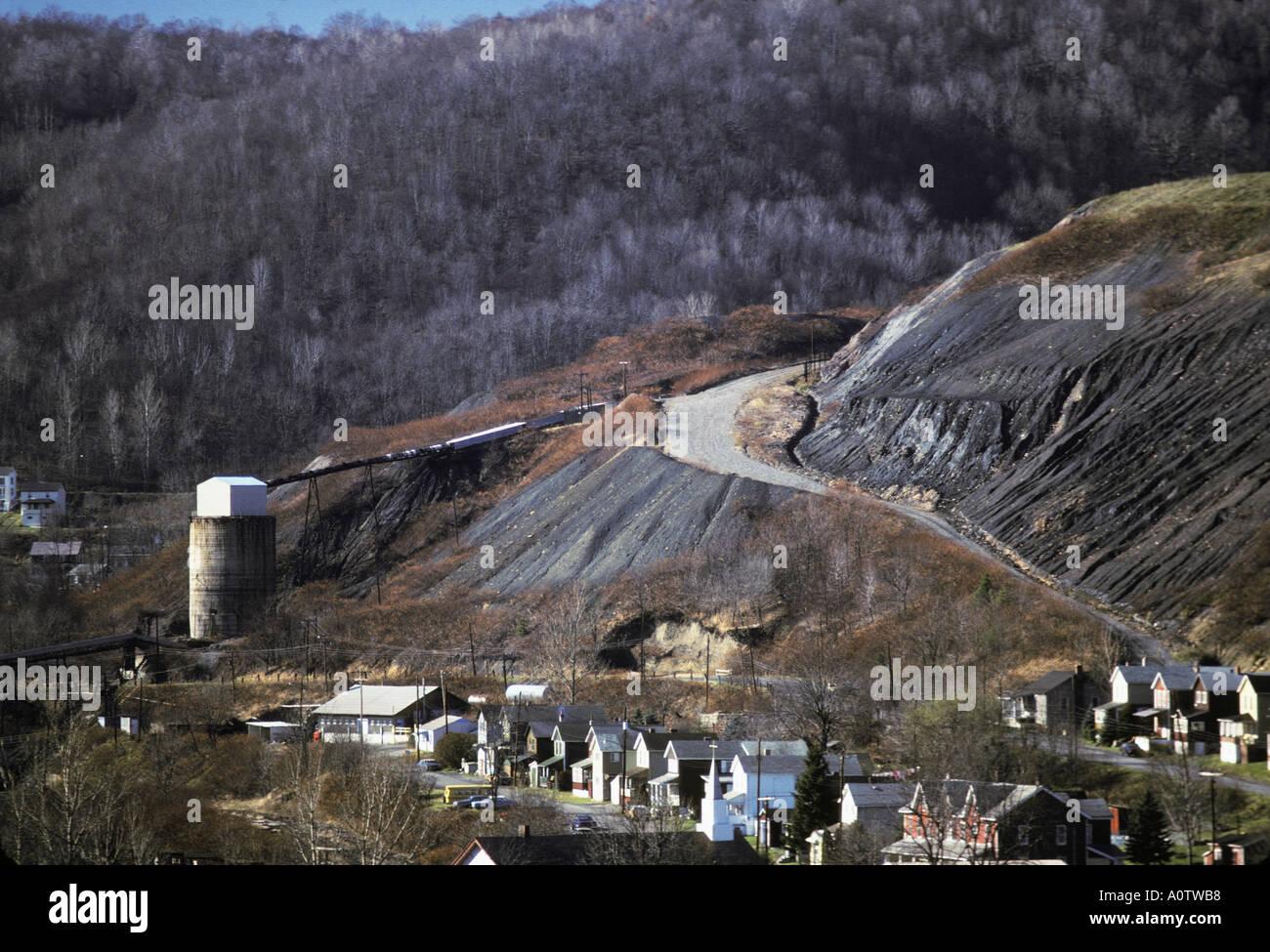 Pennsylvania coal strip mining Stock Photo