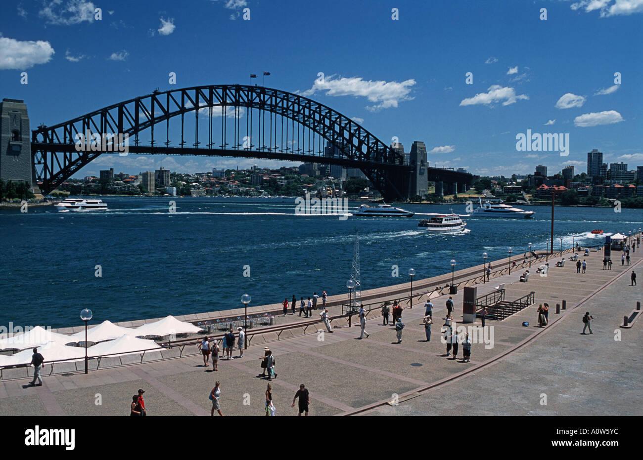 View of the famous Sydney Harbour Bridge Sydney New South Wales Australia - Stock Image