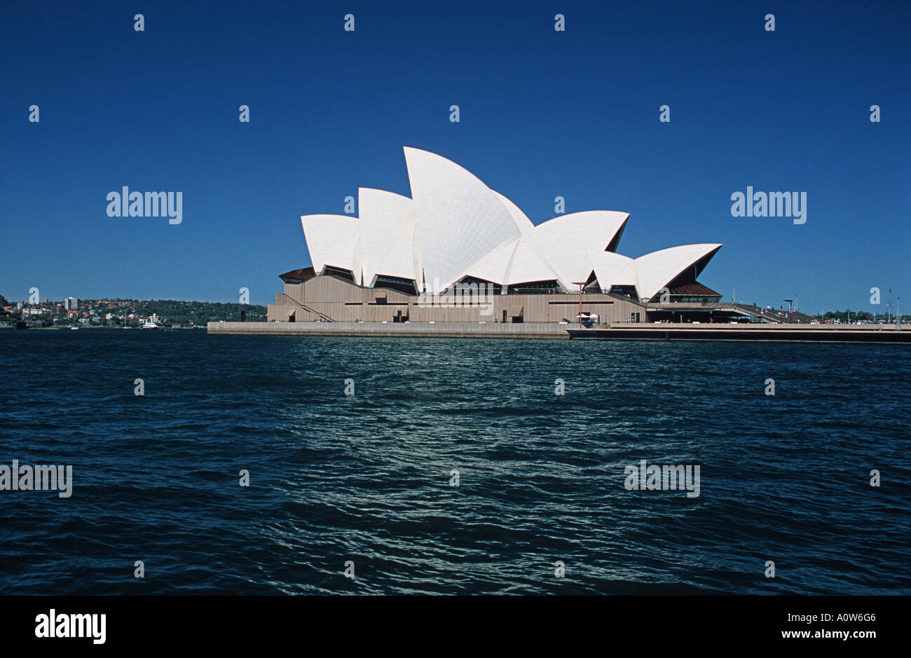 View of the famous Sydney Opera House Sydney Harbour Sydney New South Wales Australia - Stock Image