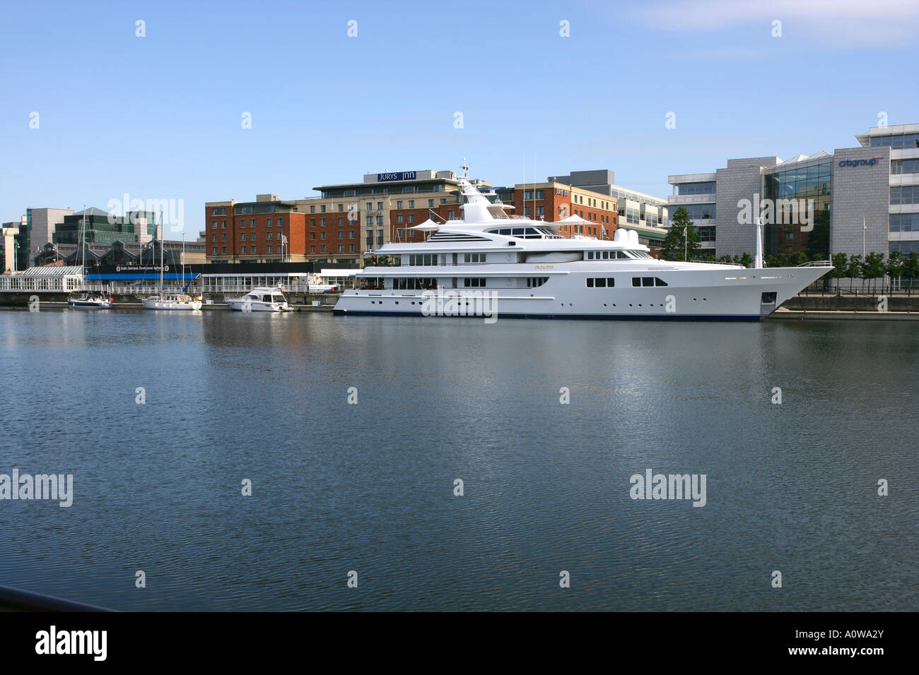 charter yacht paraffin docked - Stock Image