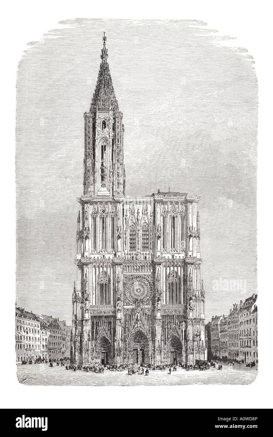 strasburg cathedral Square Our Lady Notre Dame Alsace France architecture stone tower spire Christian religion arch Stock Photo