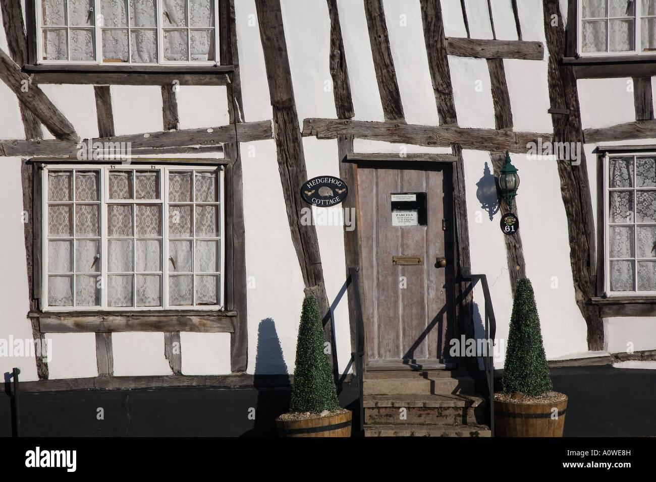 Hedgehog Cottage, Lavenham, Suffolk. - Stock Image