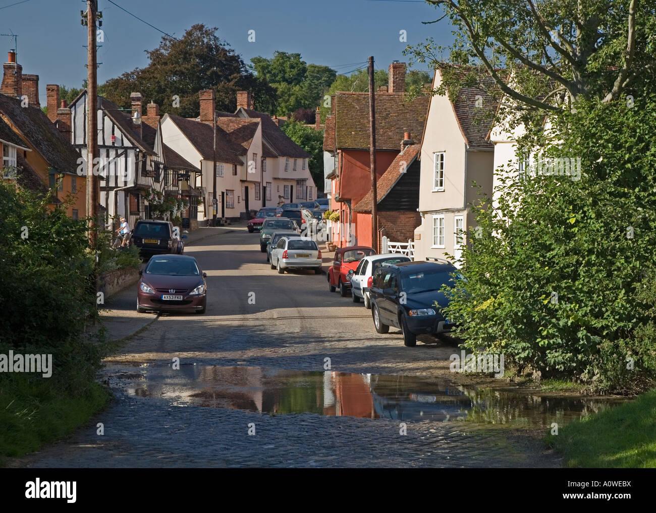 Kersey village, Suffolk. - Stock Image