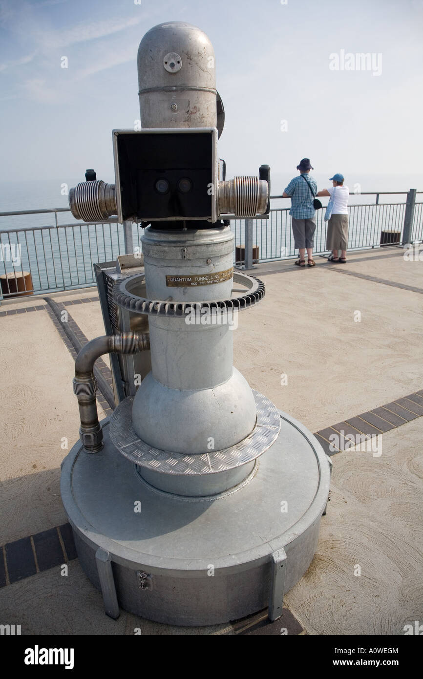 Quantum Tunnelling Telescope, Southwold pier Suffolk. - Stock Image
