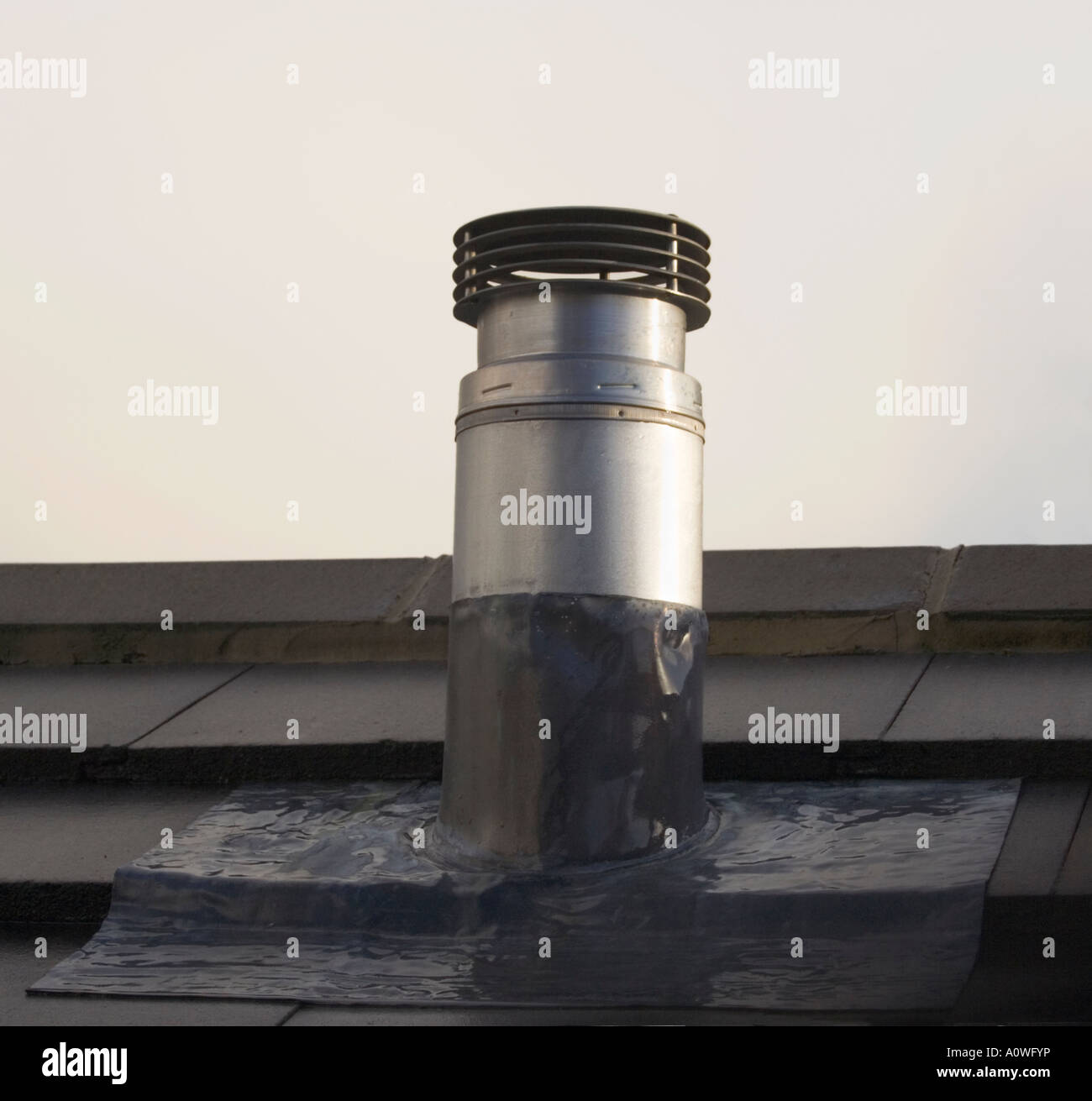 Chimney Flue On A Roof Metal Pipe Roof Tiles Lead