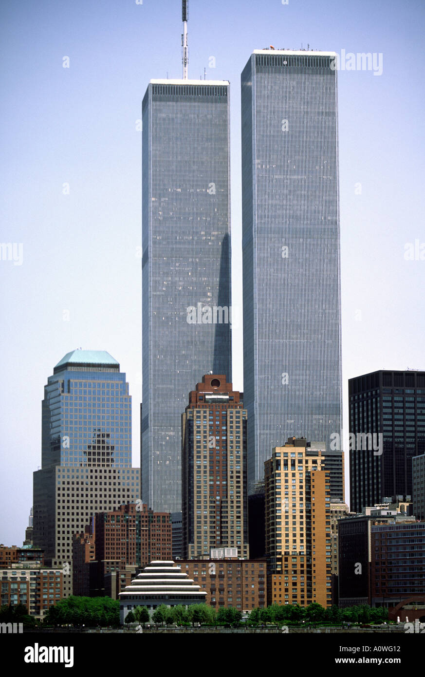 World Trade Center New York twin towers - Stock Image