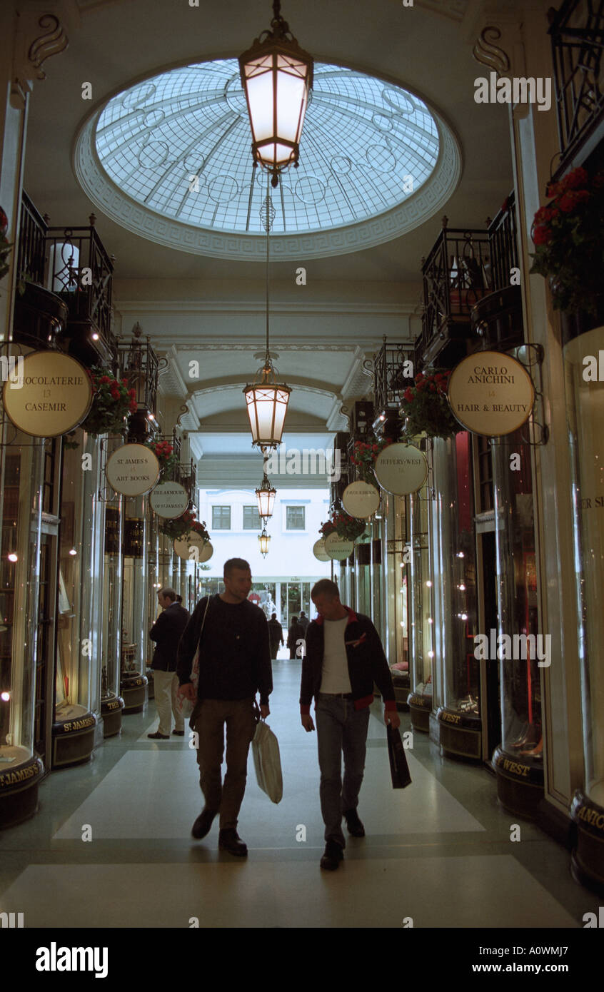 United Kingdom, England, London. Piccadilly Arcade shopping mall in London s west end Stock Photo